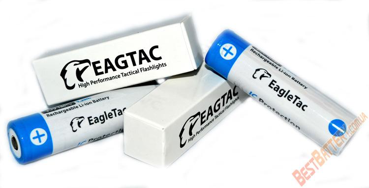 Li-Ion аккумуляторы Eagle Tac 18650 емкостью 2500 mAh