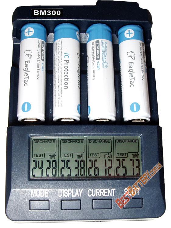 Результаты тестов литиевых аккумуляторов Eagle Tac 18650 2500 mAh.