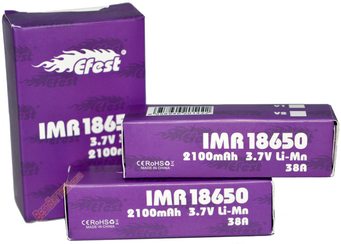 Efest 38A IMR 18650 2100mAh аккумуляторы