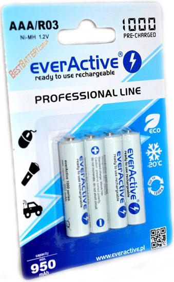 Минипальчиковые аккумуляторы EverActive 1000 mAh