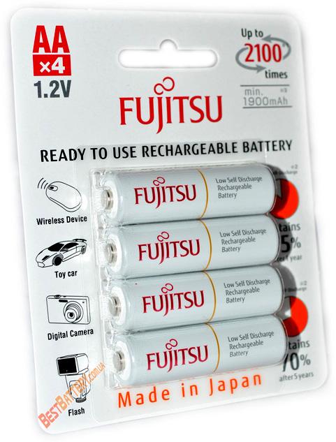 Пальчиковые аккумуляторы Fujitsu 2000 mAh серии HR-3UTCEX (4B) в оригинальном блистере (АА)
