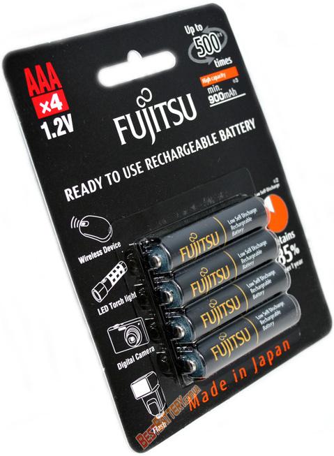 Минипальчиковые аккумуляторы Fujitsu Pro 950 mAh (min 900 mAh) в оригинальном блистере, версия HR-4UTHC (AАА).