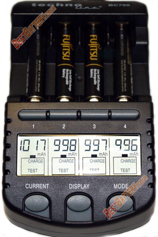 Результаты тестирования Fujitsu 950 mAh (HR-4UTHC)