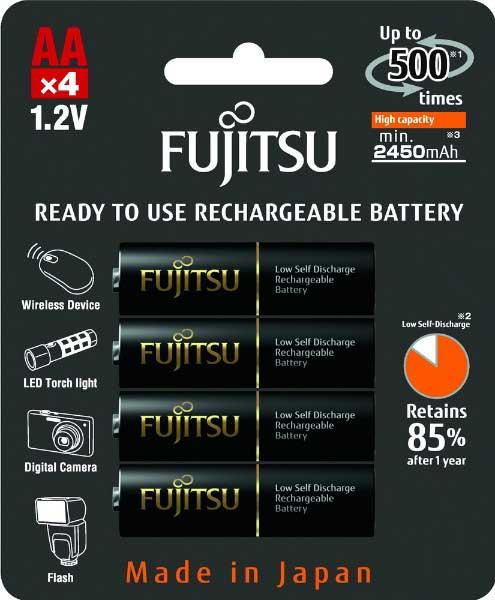 Аккумуляторы Fujitsu 2550 mAh HR-3UTHCEX в оригинальном блистере.