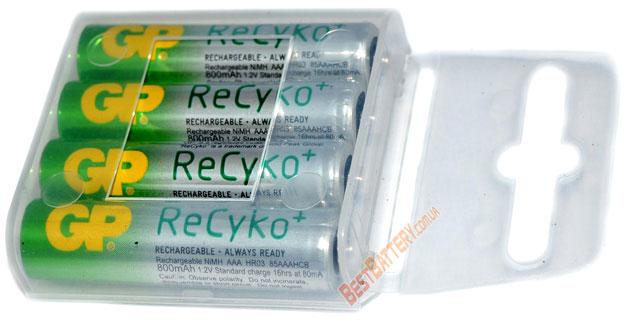 Минипальчиковые аккумуляторы GP ReCyko+ 800 mAh