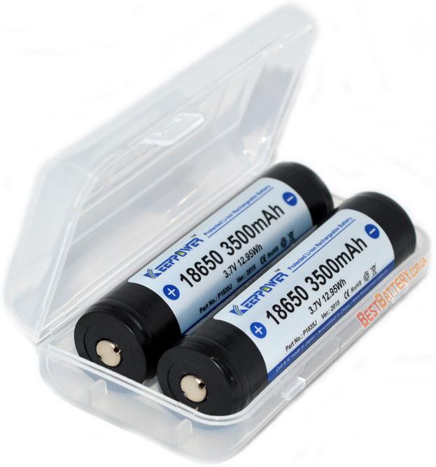 KeepPower 18650 3500 mAh Li-ion аккумулятор с защитой.