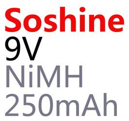 Дополнительная информация о Soshine Крона 9V 250 mAh Ni-Mh