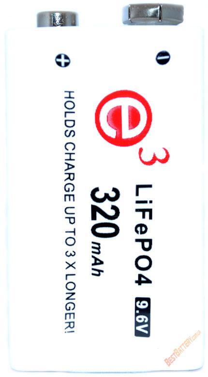 Информация о Soshine Крона 9.6V 320 mAh LiFePO4