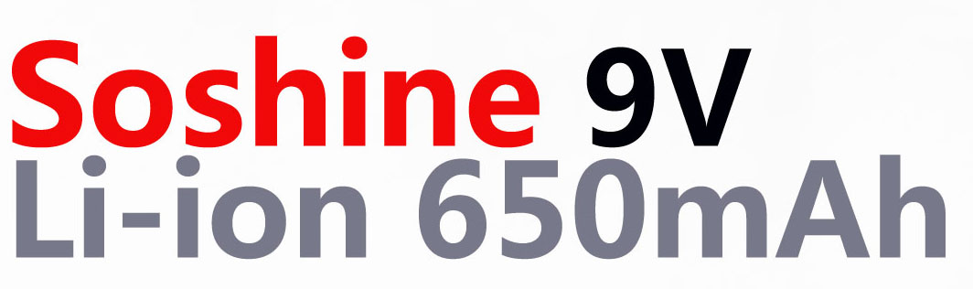 Аккумулятор Крона Soshine 9V 650 mAh