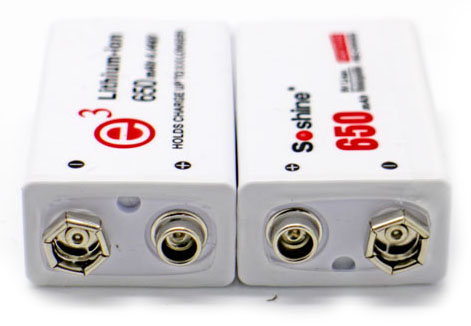 Li-Ion аккумуляторы Soshine 9V 650 mAh mAh