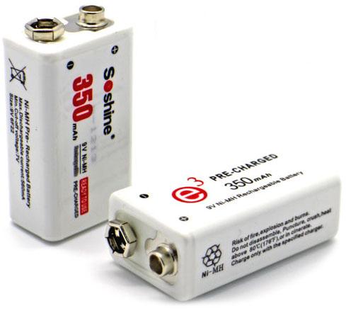 Soshine LSD 9V 350 mAh Ni-Mh аккумулятор типа Крона с низким саморазрядом (LSD).
