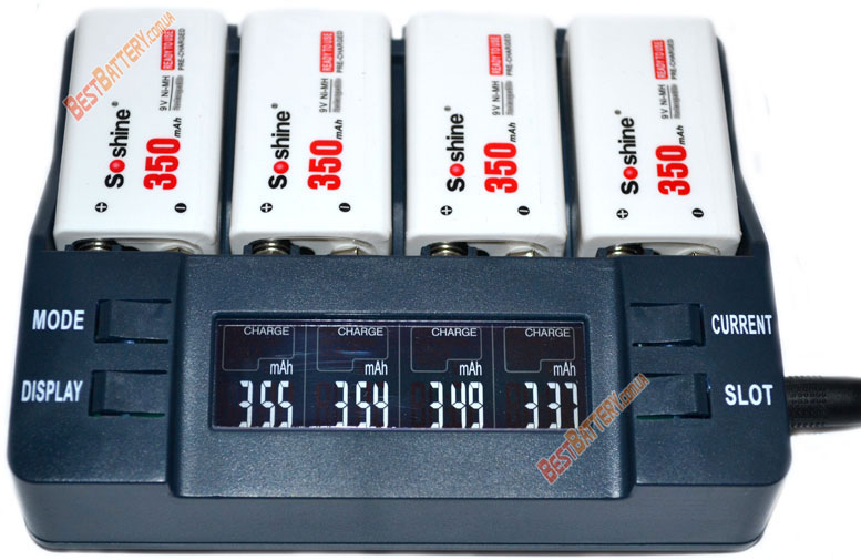 Результаты тестирования аккумуляторов Крона Soshine 9V 350 mAh LSD: