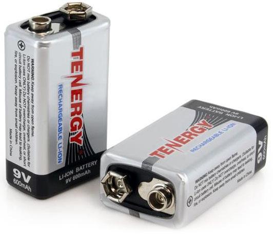 Литиевые аккумуляторы Крона Tenergy 9V 600 mAh Li-ion