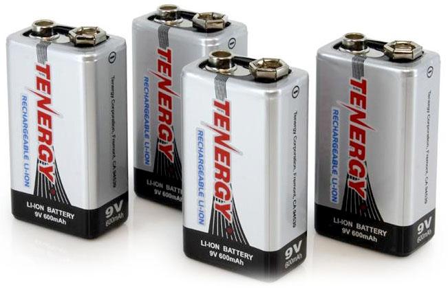 Li-Ion аккумуляторы Крона Tenergy 9V 600 mAh