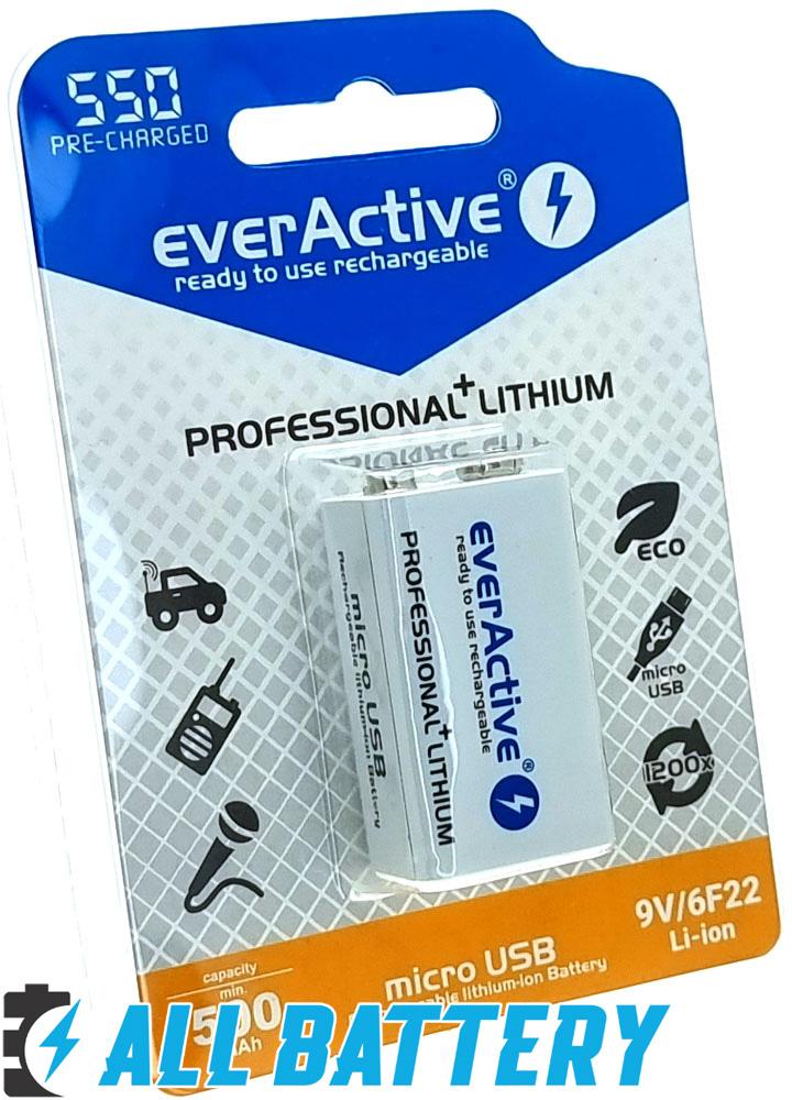ккумуляторы Крона Ever Active 550 mAh USB имеют литий-ионный состав и обладают очень низким саморазрядом.