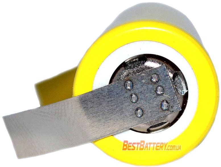 Плюсовой контакт аккумуляторов 18650 LG HE4 2500 mAh с лепестками под пайку.