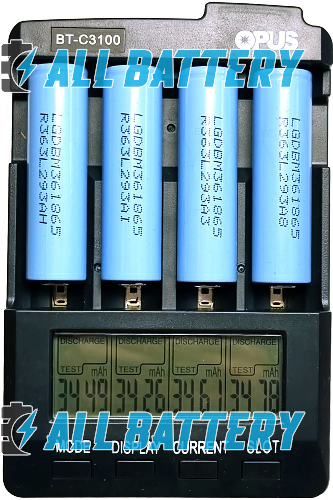 Результат теста аккумуляторов 18650 LG M36 3600 mAh Li-Ion.