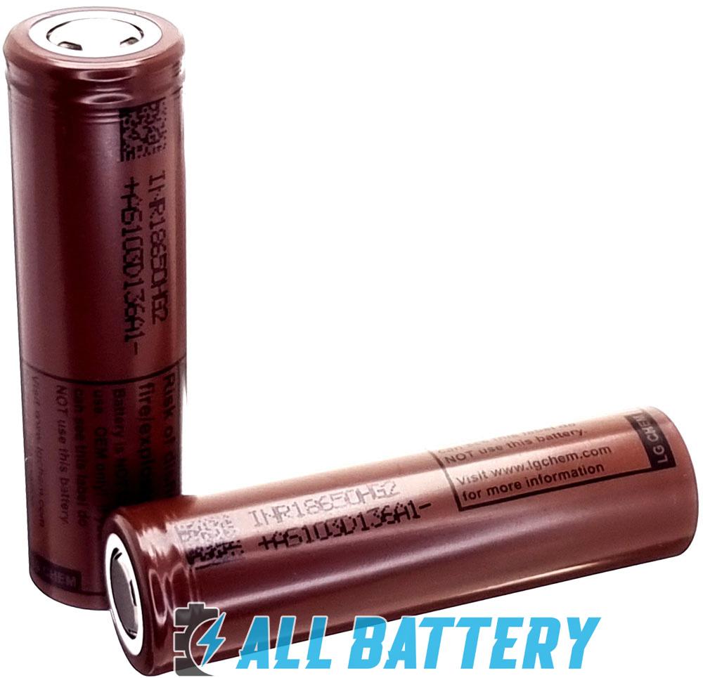 Li-Ion аккумулятор LG HG2 18650 3000 mAh 20A (30A) Высокотоковый, без защиты.