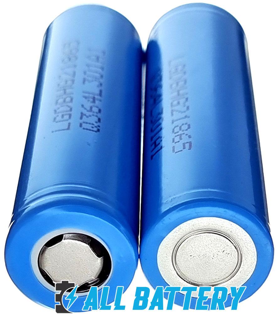 Аккумуляторы 18650 LG HG2L 3000 mAh 20A имеют плоский плюсовой контакт - Flat Top.