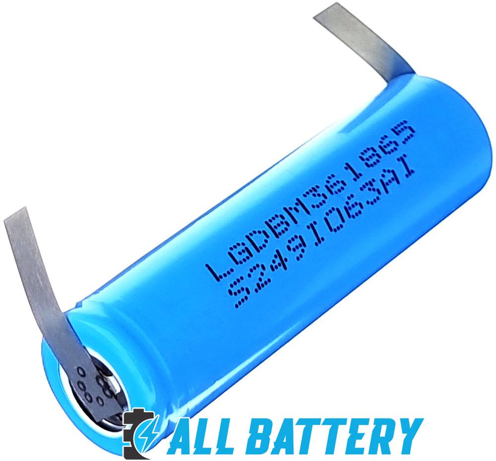 Аккумуляторы LG M36 3600 mAh 18650 10A Solder Tags с лепестками для пайки.