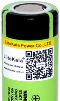 QR код на аккумуляторах Liitokala 34B 3400 mAh.