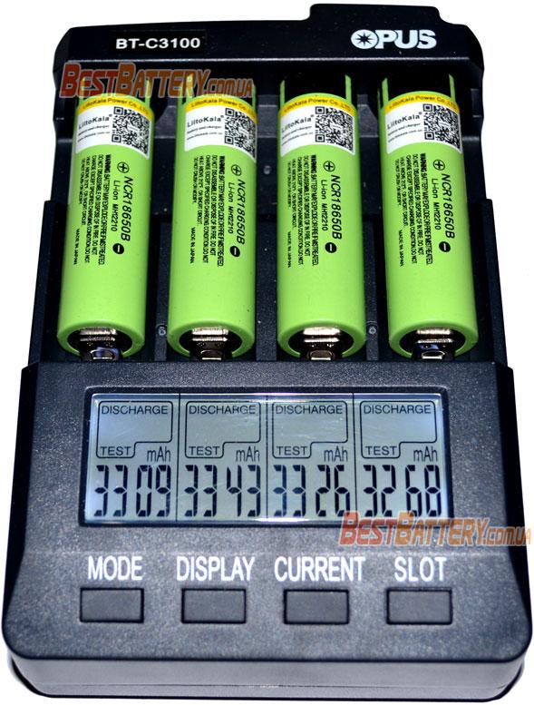 Liitokala 34B 18650 Li-Ion результаты тестирования аккумуляторов.