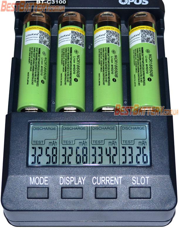 Результаты тестирования аккумуляторов 18650 Liitokala 34B-USB 3400.