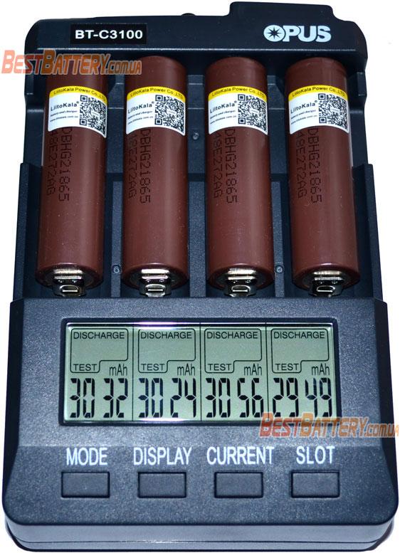 Результаты тестирования аккумуляторов 18650 Liitokala HG2 Li-Ion.