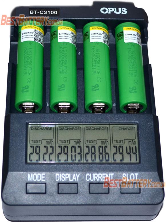 Результат тестирования li-ion аккумуляторов 18650 Liitokala VTC6 3000 mAh 30A.