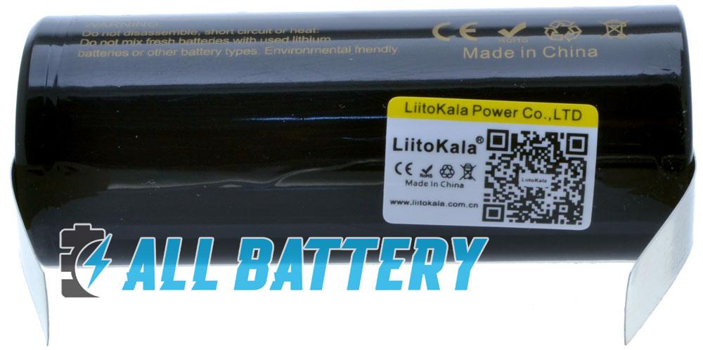 Аккумуляторы Liitokala 26650 5000 mAh с лепестками под пайку фирменная наклейка с QR.