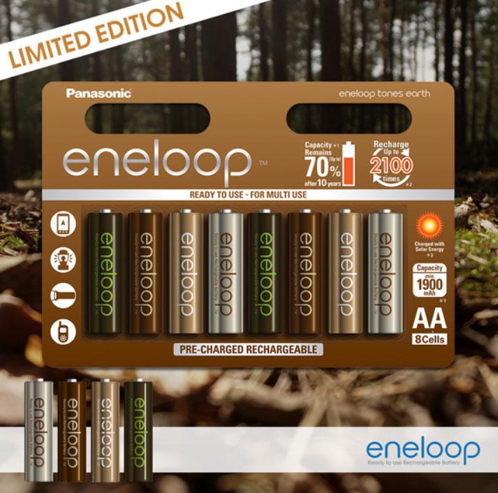 Аккумуляторы Panasonic Eneloop Earth 2000 mAh (min 1900 mAh) AA.