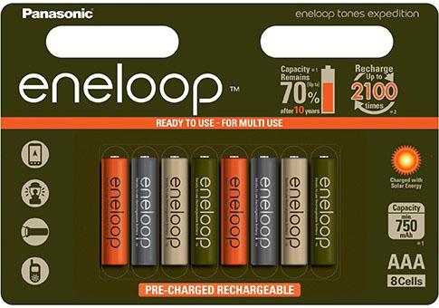 Аккмуляторы Panasonic Eneloop Expedition AAA 800 mAh (min 750 mAh).