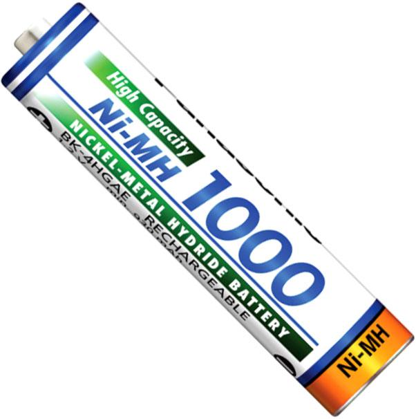 Минипальчиковые аккумуляторы Panasonic 1000 mAh BK-4HGAE без упаковки (ААА).