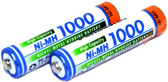 Техническая характеристика аккумуляторов Panasonic 1000 mAh BK-4HGAE