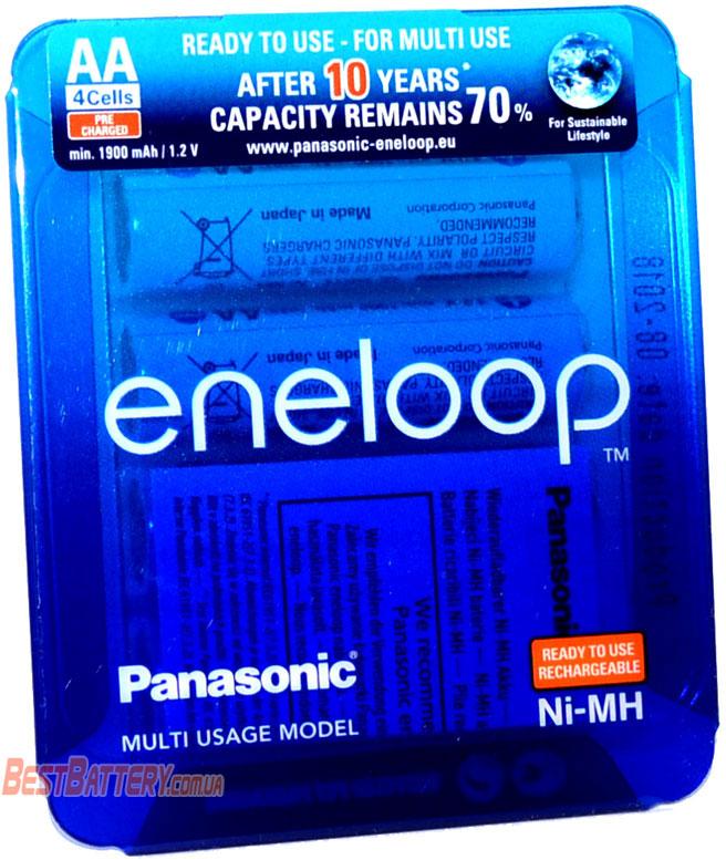 Panasonic Eneloop 2000 mAh (min 1900 mAh) BK-3MCCE/4LE.