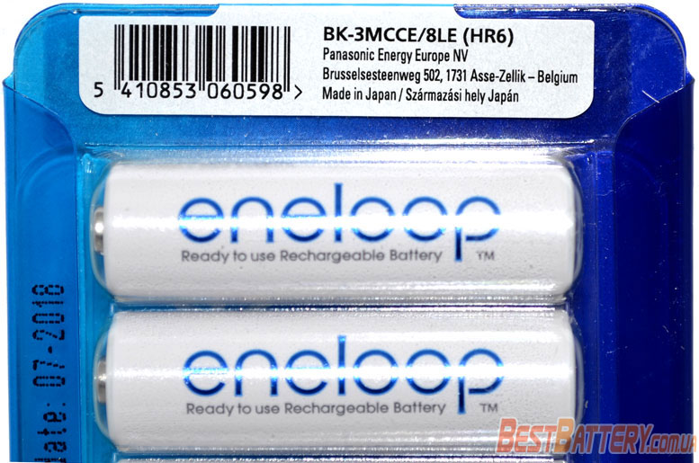 АА аккумуляторы Eneloop 2000 mAh BK-3MCCE 8LE AA в пластиковом блистере