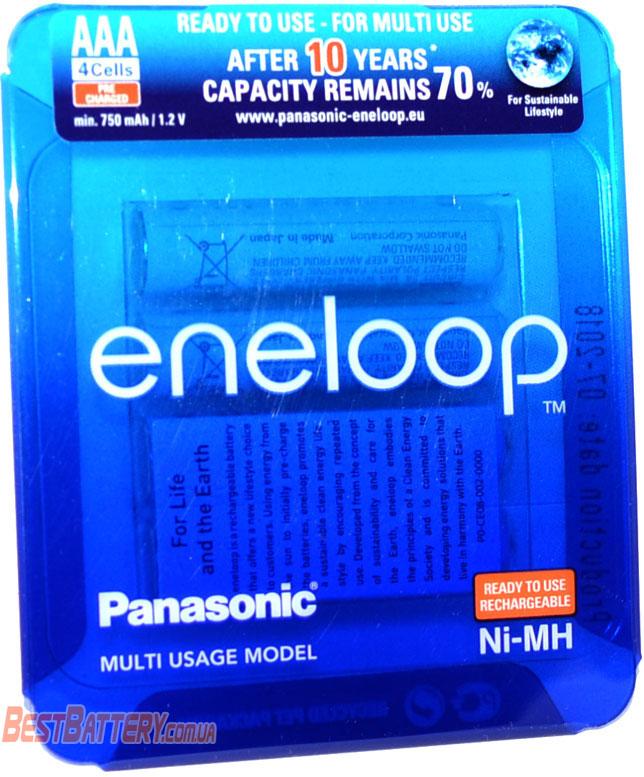 Panasonic Eneloop 800 mAh BK-4MCCE/ 4LE в пластиковом блистере.
