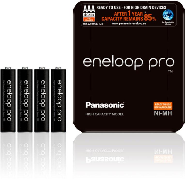 Минипальчиковые аккумуляторы Panasonic Eneloop Pro AAA 980 mAh в пластиковом блистере.