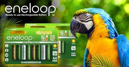 Аккумуляторы Panasonic Eneloop Botanic.