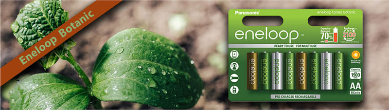 Пальчиковые аккумуляторы Panasonic Eneloop Botanic AA BK-3MCCE/8TE