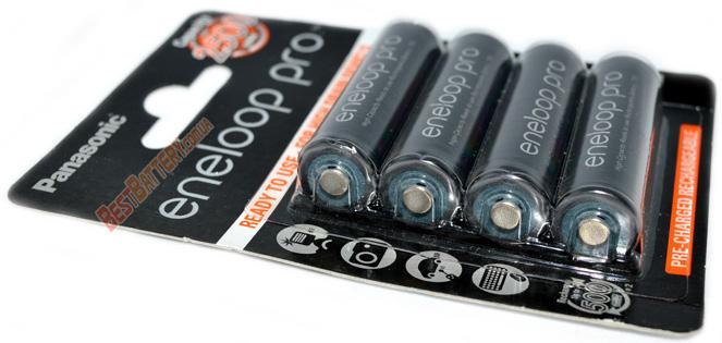 Пальчиковые аккумуляторы Panasonic Eneloop Pro 2600 mAh - серия BK-3HCDE 4BE.