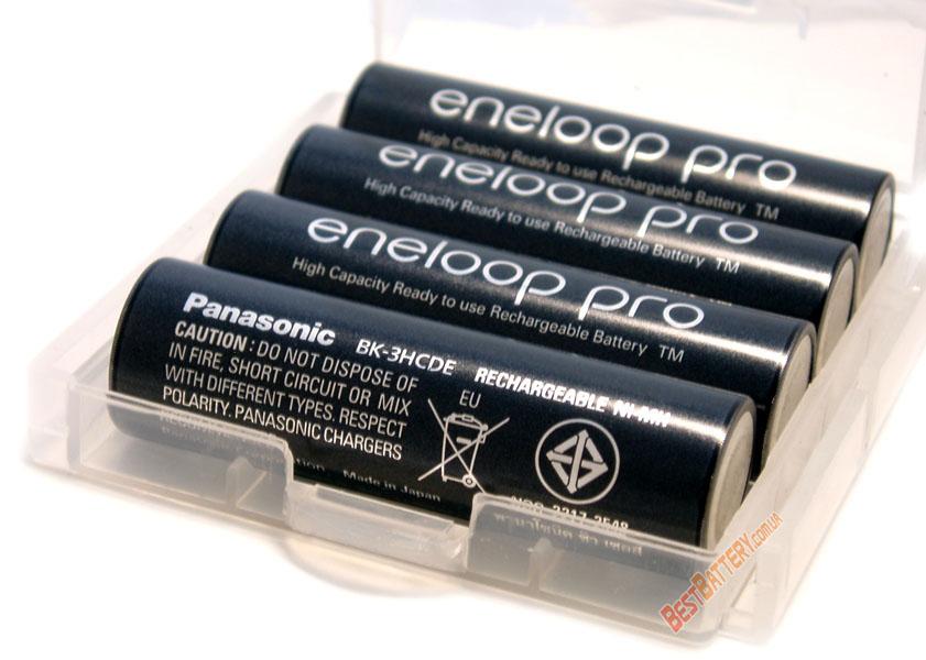 Пальчиковые аккумуляторы Panasonic Eneloop Pro 2600 mAh (min 2500 mAh) - серия BK-3HCDE