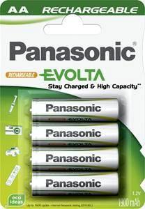 Panasonic Evolta 1900 mAh (HHR-3MVE/4BC) низкосаморазрядные АА аккумуляторы в блистере.