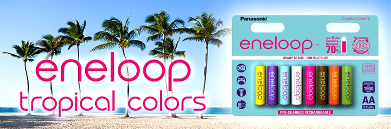Аккумуляторы Panasonic Eneloop Tones Tropical