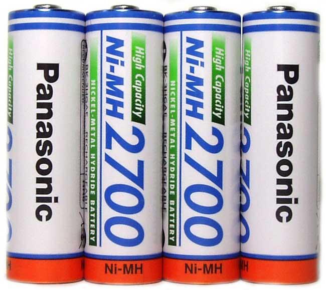 Техническая характеристика Panasonic 2700 mAh BK-3HGAE