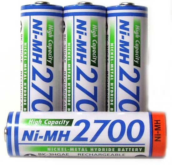 Аккумуляторы Panasonic 2700 mAh (BK-3HGAE):
