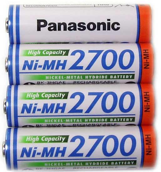 Аккумуляторы Panasonic 2700 mAh (BK-3HGAE)