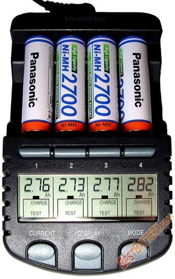 Результаты тестирования Ni-MH аккумуляторов AA Panasonic 2700 mAh