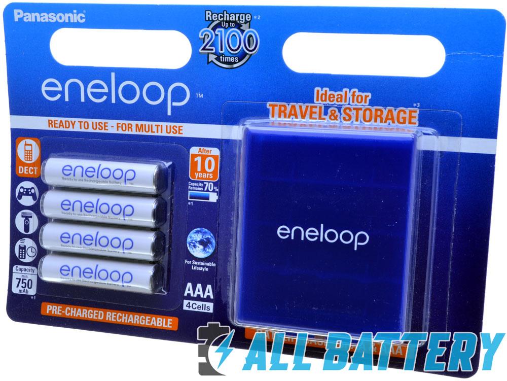 Аккумуляторы Panasonic Eneloop 800 mAh (min 750 mAh) BK-4MCCE 4BE в блистере + фирменный бокс Eneloop.