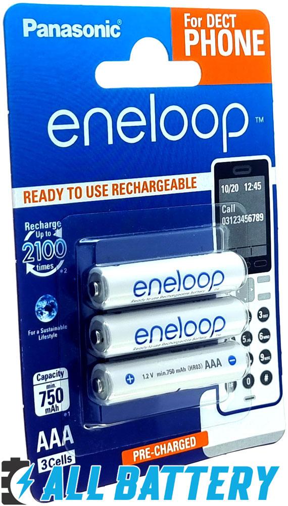 Panasonic Eneloop 800 mAh (min 750 mAh) BK-4MCCE 3DE в блистере.